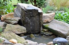 A Bubbling Rock Water Feature and Mini Yard Tour