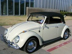 1965 Pearl White VW Beetle Convertible, SOLD. Asking price: $25,000. The car is no more listed under sale inventory of Oldbug.