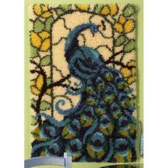 Craftways® Stained Glass Peacock Latch Hook Kit Was: $69.99                     Now: $59.99
