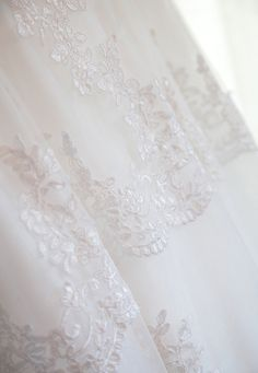 Lace and silk tulle wedding gown, detail from the skirt- Mitheo Events | Concept Events Styling