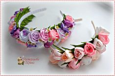 Фотографии Ribbon Headbands, Baby Headbands, Flower Crown Wedding, Diy Hair Bows, Ribbon Crafts, Flower Making, Diy Hairstyles, Fabric Flowers, Diy Wedding