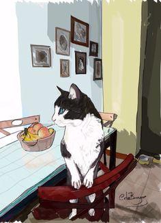 El gatito feliz