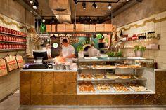 Продуманный интерьер пиццерии от дизайнера Dan Troim в Тель-Авиве. Посмотрите на планировку и декор, этого великолепного заведения.
