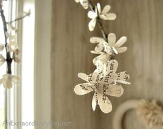 Create Your Own Lovely Flowering Branches :: A Book Page Flower Tutorial