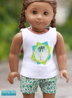 Tank and Shorts for American Girl Dolls