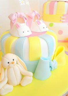 Bootie cake with bunny | Flickr - Photo Sharing!