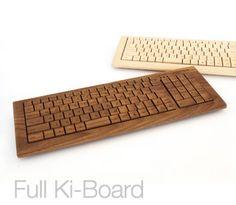 木をタイピング、木のキーボード