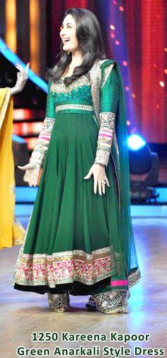 Kareena Kapoor in Green Full Sleeve Long Bollywood Salwar Kameez 20734
