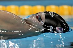 Swimmer about to break surface tension