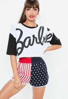 Missguided Barbie x White Mono Contrast Crop T Shirt Fashion 2017, Fashion Brands, Womens Fashion, Cheap Fashion, Plus Size Tops, Plus Size Women, Missguided, Casual Looks, Summer Outfits