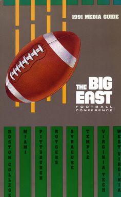 1991 BIG EAST Football Media Guide Cover #bemediaday