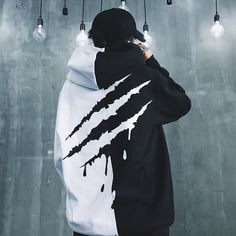 2018 Fashion Oversize Hip-hop Style Swag Hoodie Sweatshirt Autumn Winter Warm Hoodies Black White Splice Hoodies Streetwear S-XL Hoodie Sweatshirts, Hoody, Swag Outfits, Cool Outfits, Fresh Outfits, Swag Style, Men's Style, French Style, Hip Hop Style