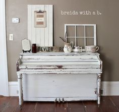 Must do this - Paint a piano. miss mustard seed milk paint breidawithab.com