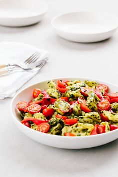 Pesto Tortellini Pasta Salad Recipe. Summer just isn't summer without a good pasta salad. It's one of the easiest side dishes to bring to a backyard bbq or gathering, makes a simple lunch, and can become dinner when it's just too hot for a hot meal. That's why it's essential to have this unique recipe around!