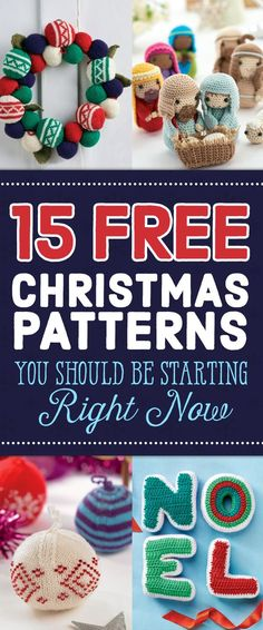The countdown to Christmas is now in single figures, so if you haven't started your festive makes yet, there's no time to lose! These fab free patterns will get you started. Knitted Christmas Decorations, Knit Christmas Ornaments, Crochet Ornaments, Christmas Toys, Homemade Christmas, Christmas Projects, Christmas Patterns, Frugal Christmas, Crochet Decoration