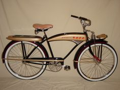 Vintage Motorcycles J. Higgins from Sears. Mine was a girl's bike in turquoise blue and white. Retro Bicycle, Old Bicycle, Old Bikes, Beach Cruiser Bikes, Cruiser Bicycle, Vintage Bicycles, Vintage Motorcycles, Bicycle Pictures, Chopper Bike