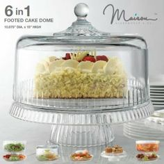 Beautiful 6 in 1 All Purpose Party Cake Stand. In Gift Box