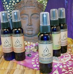 MEDITATION MISTS Set of 5 Liquid Spray Incense by ScentualGoddess