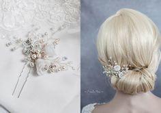Braut+Haarschmuck+Perlen+Blumen+Strass+Haarnadel++von+Princess+Mimi++auf+DaWanda.com