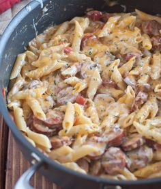 Another Spicy Sausage Pasta - Super easy, can be made with only ONE Pan - less dishes, more time to eat :P