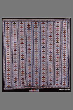 Quilt, Flying Geese pattern.. Maker: Possibly Mary Spingler Fonderden Van Beuren (1810-1894). date: ca.1845