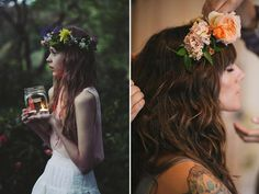 I love all of these ways to incorporate flowers into hairstyles. So beautiful!