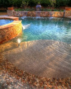 Nice beach inspired pool. ♡