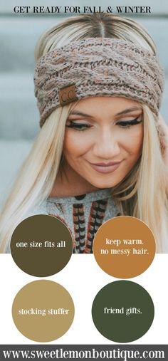 Accessorize this season with the lined CC Head Wrap that can be worn 2 ways. Knit or fur. Just flip in inside out.