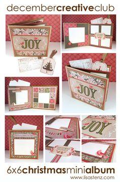 Lisa's Creative Corner: December Creative Club Kit - 6x6 Christmas Mini Album  #CTMH