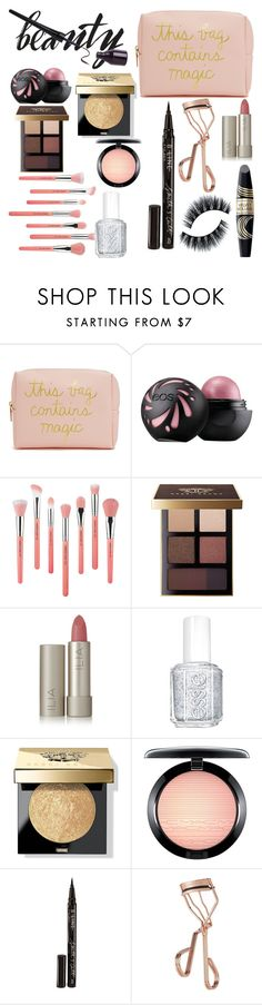 """""""Beauty To Go"""" by longboarder21 ❤ liked on Polyvore featuring beauty, Forever 21, Bdellium Tools, Max Factor, Bobbi Brown Cosmetics, Ilia, Essie, MAC Cosmetics, Smith & Cult and Tweezerman"""