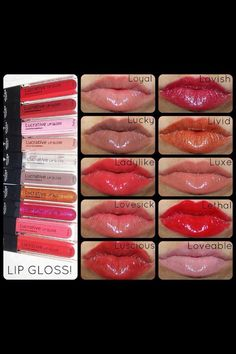 Lipglosses! Beautiful colors!! www.youniqueproducts.com/MindiManley