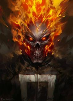 Fan art of 'Ghost Rider' from 'Marvel's: Agents Of S.H.I.E.L.D.'