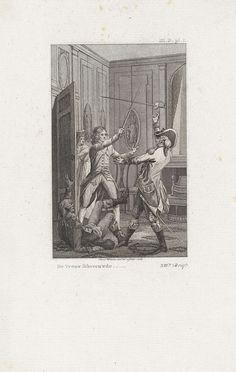 Tweegevecht met de degen, Reinier Vinkeles, 1798