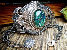 Etsy- Atlantis Filigree Bracelet Silver Filigree Cuff Bracelet Gothic Victorian Steampunk Cuff Bracelet Filigree Antique Vintage Style Jewelry