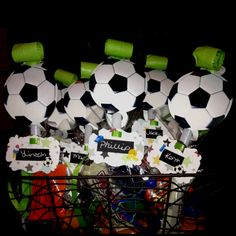 End of soccer season party treat bags ⚽