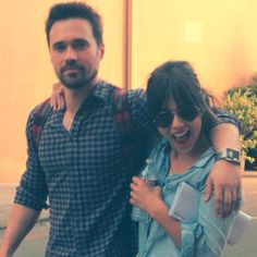 I see your photo and raise you this || Brett Dalton, Chloe Bennet || Twitter || #cast #skyeward