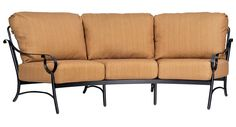 "Aluminum Ridgecrest Cushion Crescent Sofa Height: 35.5"" Width: 110.5"" Depth: 46"""