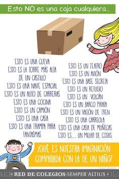 Una caja + un poco de imaginación= DIversión #Creatividad #Imaginación #Preescolar #SemperAltius