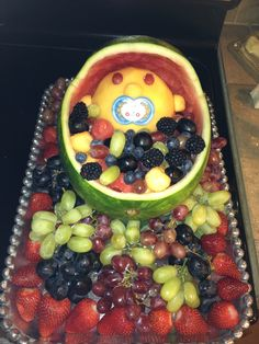 baby shower fruit bowl