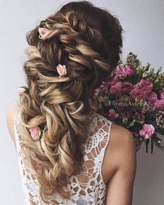 Wedding Updo Hairstyles for Long Hair from Ulyana Aster_28 ❤ See more: http://www.deerpearlflowers.com/wedding-updo-hairstyles-for-long-hair-from-ulyana-aster/2/