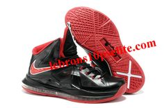 sale retailer 801d6 f3ea1 Nike Zoom LeBron 10(X) Black Red Basketball Sneakers, Nike Sneakers,