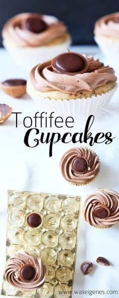 Recipe: Toffifee cupcakes with Nutella butter cream Recipe: Delicious toffifee cupcakes with toffifee in and on the cupcake. Anne-Kathrin Konsdorf annekathrinkons Backen Recipe: Toffifee cupcakes with Nutella butter cream Anne-Kathrin Konsdorf Rec Baking Recipes, Cookie Recipes, Dessert Recipes, Muffin Recipes, Easy Cupcake Recipes, Savoury Cake, Ice Cream Recipes, Oreo, Snacks