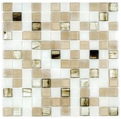 Stained Glass Mosaic Tile Pastel 1x1 | Mineral Tiles