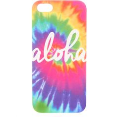 Aloha Tie-Dye Phone Case iPhone 5/5S (48 AUD) ❤ liked on Polyvore featuring accessories and tech accessories