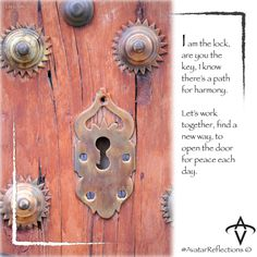 #Peace, #lock. Inspirational quotes, inspirational photography, inspirational image, Avatar, Avatar Reflections, mindfulness, positive, happy #lockandkey