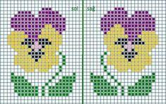 Small Cross Stitch, Cross Stitch Cards, Cross Stitch Borders, Cross Stitch Rose, Cross Stitch Flowers, Cross Stitch Designs, Cross Stitching, Cross Stitch Embroidery, Cross Stitch Patterns