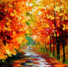Gold Expanse — Palette Knife Contemporary Art Oil Painting On Canvas By Leonid Afremov Old Paintings, Colorful Paintings, Impressionist Paintings, Oil Painting Texture, Oil Painting On Canvas, Knife Painting, Painting Art, Canvas Art, Oil Painting Reproductions