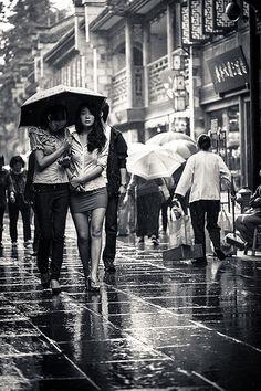 rain in Chengdu
