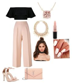 """""""Untitled #102"""" by bunnyboo407 on Polyvore featuring Fendi, Yves Saint Laurent, Missguided and MAC Cosmetics"""