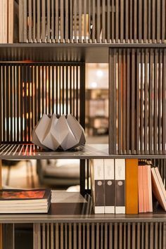 Best upholstery exhibitors at Isaloni - Shelf Design, Cabinet Design, Display Shelves, Wall Shelves, Cabinet Furniture, Furniture Design, Book Cabinet, Joinery Details, Partition Design